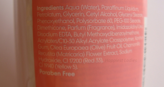 Mothercare Baby Lotion Ingredients