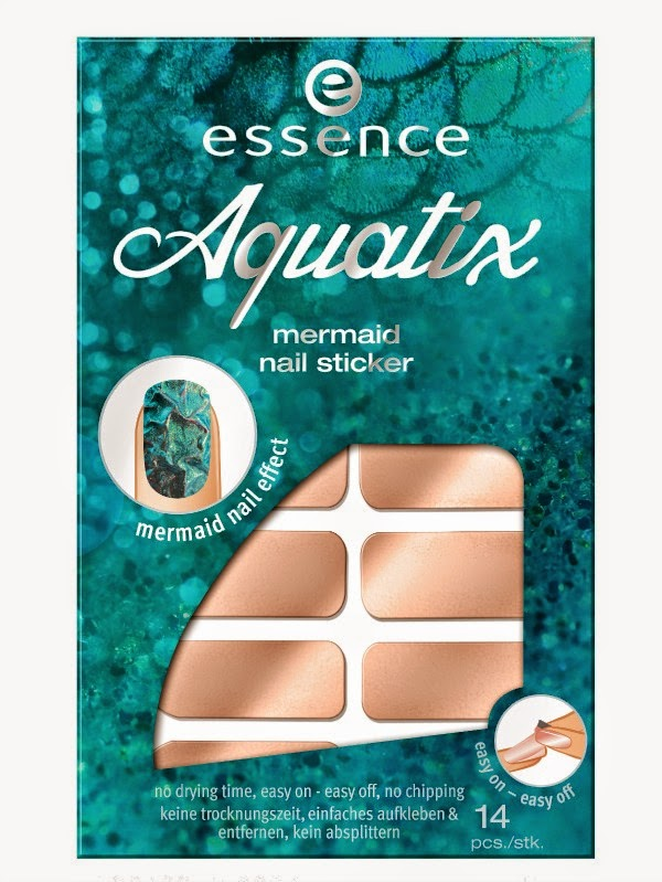 essence aquatix – mermaid nail sticker