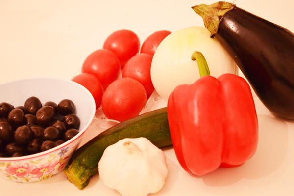 Ingredients Mediterranean Ratatouille Pasta