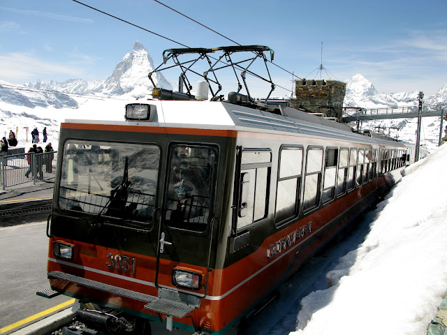 Gornergrat Bahn is the highest open-air railway in all of Europe and once at top, promises jaw-dropping views of the surrounding Swiss Alps. This photo only: WikiMedia.org.