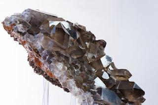 quartz et sidérite en provenance du Mont-Blanc
