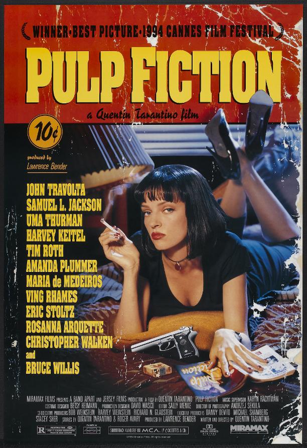 recensione, cinema, Quentin Tarantino, John Travolta, Pulp Fiction, Cannes, Uma Thurman