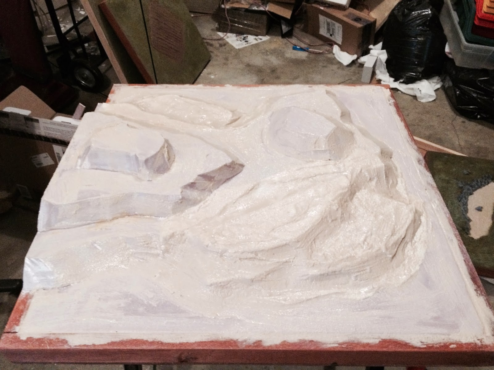 Lair of the uber geek sectional terrain mountains foam