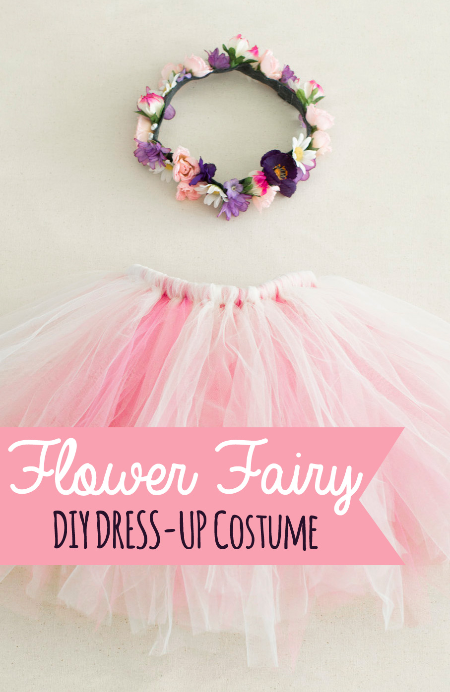 The nonpareil home diy costume flower fairy pretty quick and easy to make all of the costumes this week are perfect for dress ups and you can add a little extra pizazz to use for a perfect halloween solutioingenieria Image collections