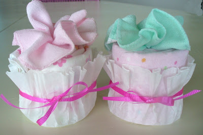 baby gift cupcakes tutorial