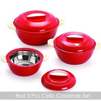 Buy Cello Alpha Casseroles Gift Set 3 Pcs AT Rs. 380 only: Buytoearn