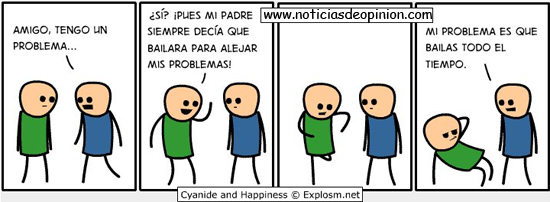 Viñeta de humor de 'Cyanide and Happyness', en español.