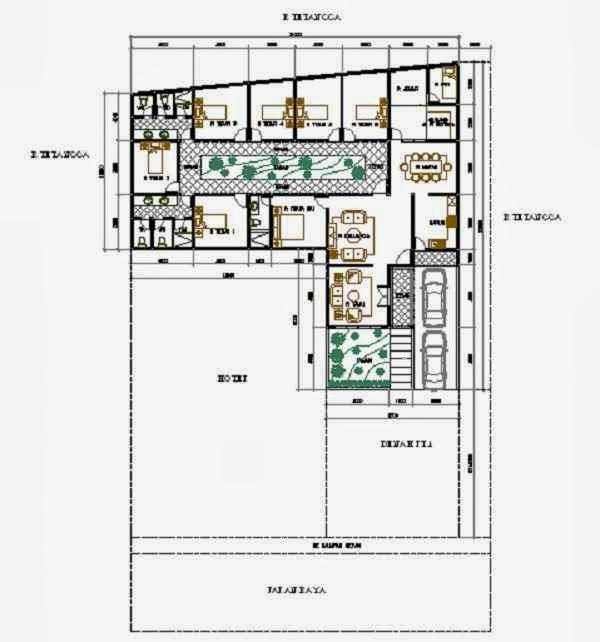 desain rumah minimalis berbentuk l