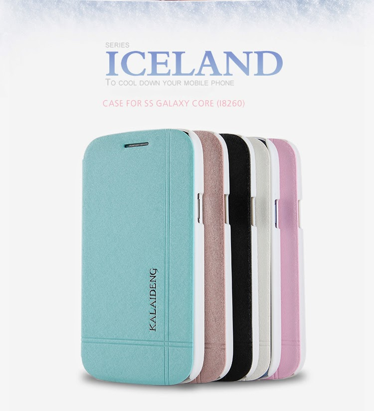 KLD Iceland Series Slim Fashion Folio Leather Case for Samsung Galaxy Core I8260 I8262