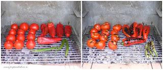 legume fripte la gratar, legume preparate la gratar, gratar de legume, rosii la gratar, ardei la gratar, retete culinare, retete cu legume, preparate din legume,