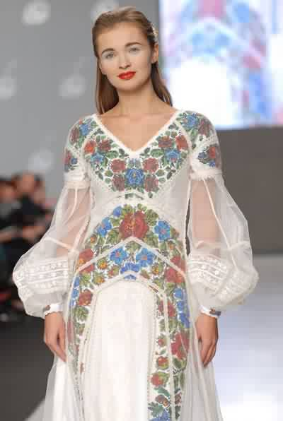 Wedding dress from Ukrainian fashion designer Roksolana Bogutska