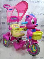 Sepeda Roda Tiga Royal RY9982C Baby Tom dengan Mainan Interaktif dan Kanopi Bulat