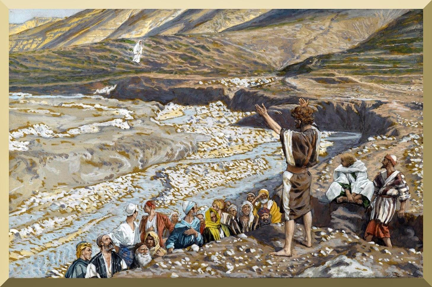 """Saint John the Baptist Sees Jesus from Afar"" -- by James Tissot"