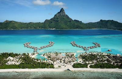 Inter Continental resort Bora Bora beach hut bungalow holiday