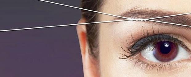 o que é a depilação com linha