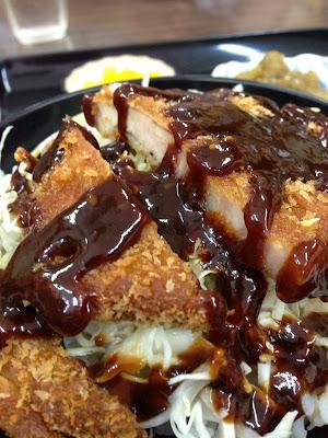 福岡県糸島市「角屋食堂」甘い味噌の味噌カツ丼
