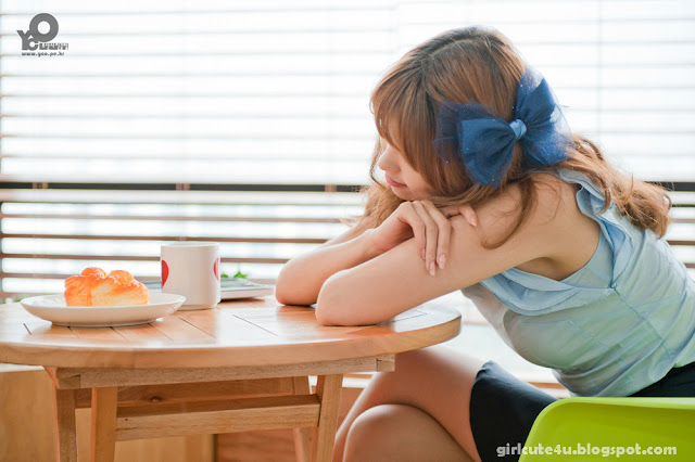 12 Lee Eun Hye in Blue-very cute asian girl-girlcute4u.blogspot.com