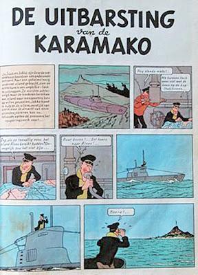 De uitbarsting van de Karamako