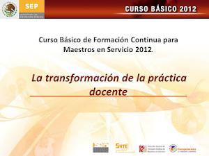 CENTRO DE MAESTROS/CURSO BÁSICO (CICLO ESCOLAR 2012 - 2013)