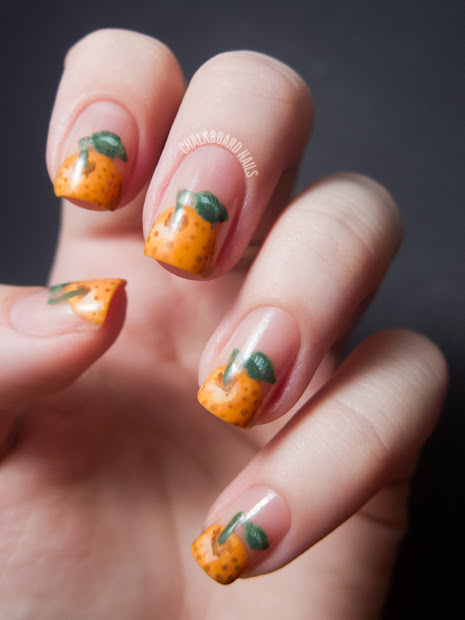 31dc2012 day 02 orange nails