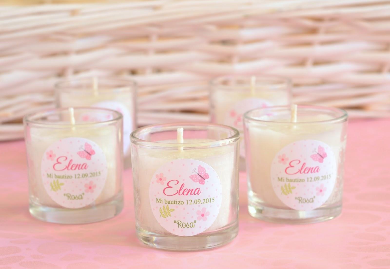 El jab n casero detalles para bautizos velas personalizadas - Etiquetas para velas ...