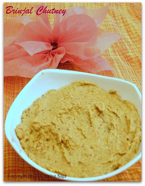 brinjal chutney/kathrikai thogyal