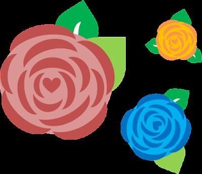 Hiasan Bunga Mawar di Powerpoint, Bunga Mawar