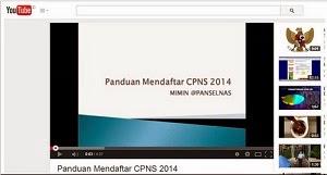 Video Tutorial & Panduan Cara Mendaftar CPNS 2014 regpanselnas.menpan.go.id