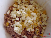 Brazo gitano salado-huevo picado