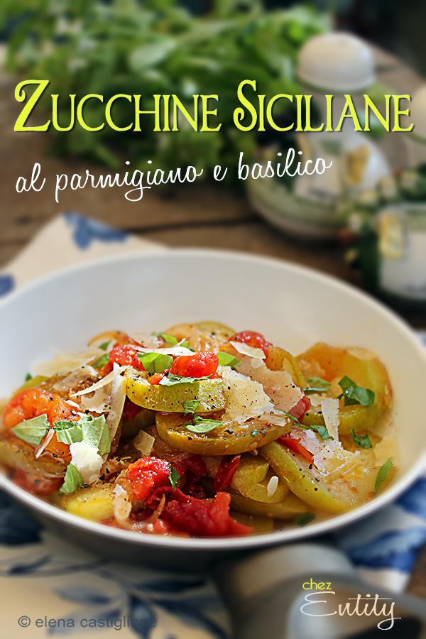 zucchine siciliane al parmigiano e basilico