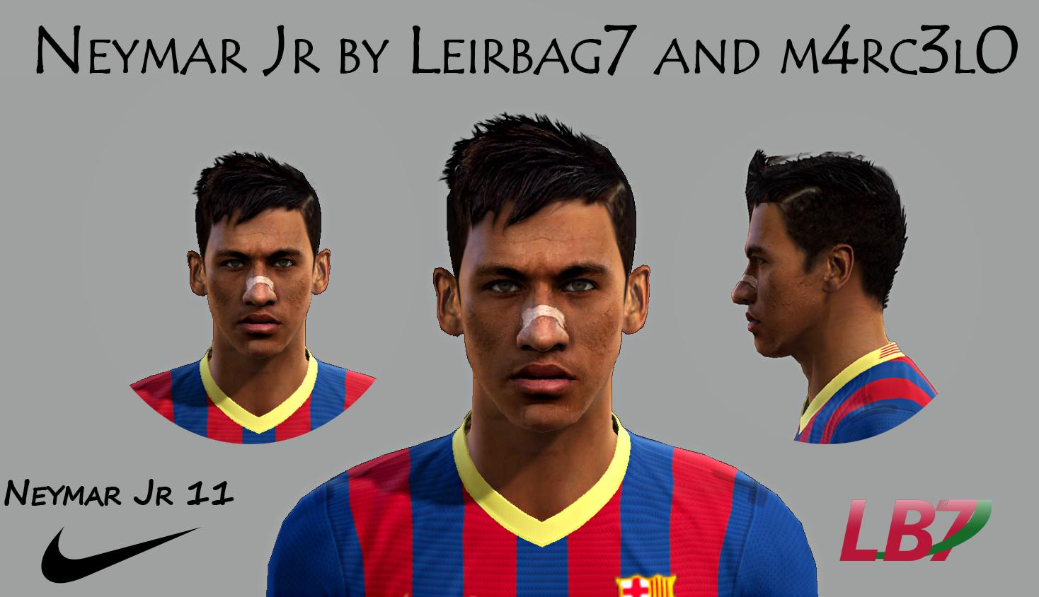 Face Neymar Jr by Leirbag7 and m4rc3l0