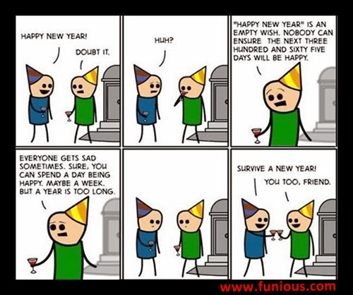 Funious Dump A Day funny happy new year