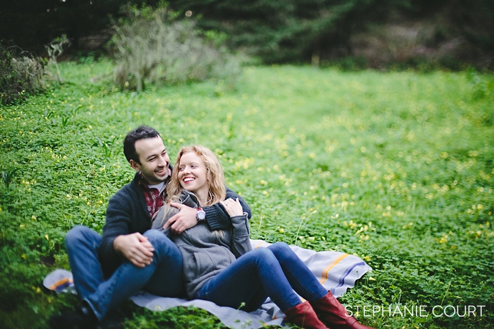 romantic engagement session at moss beach