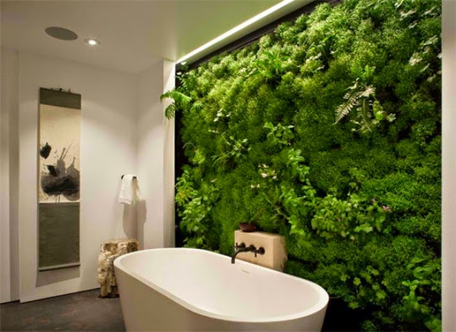 green walls in the spa room   Outdoor Furniture in Vietnam
