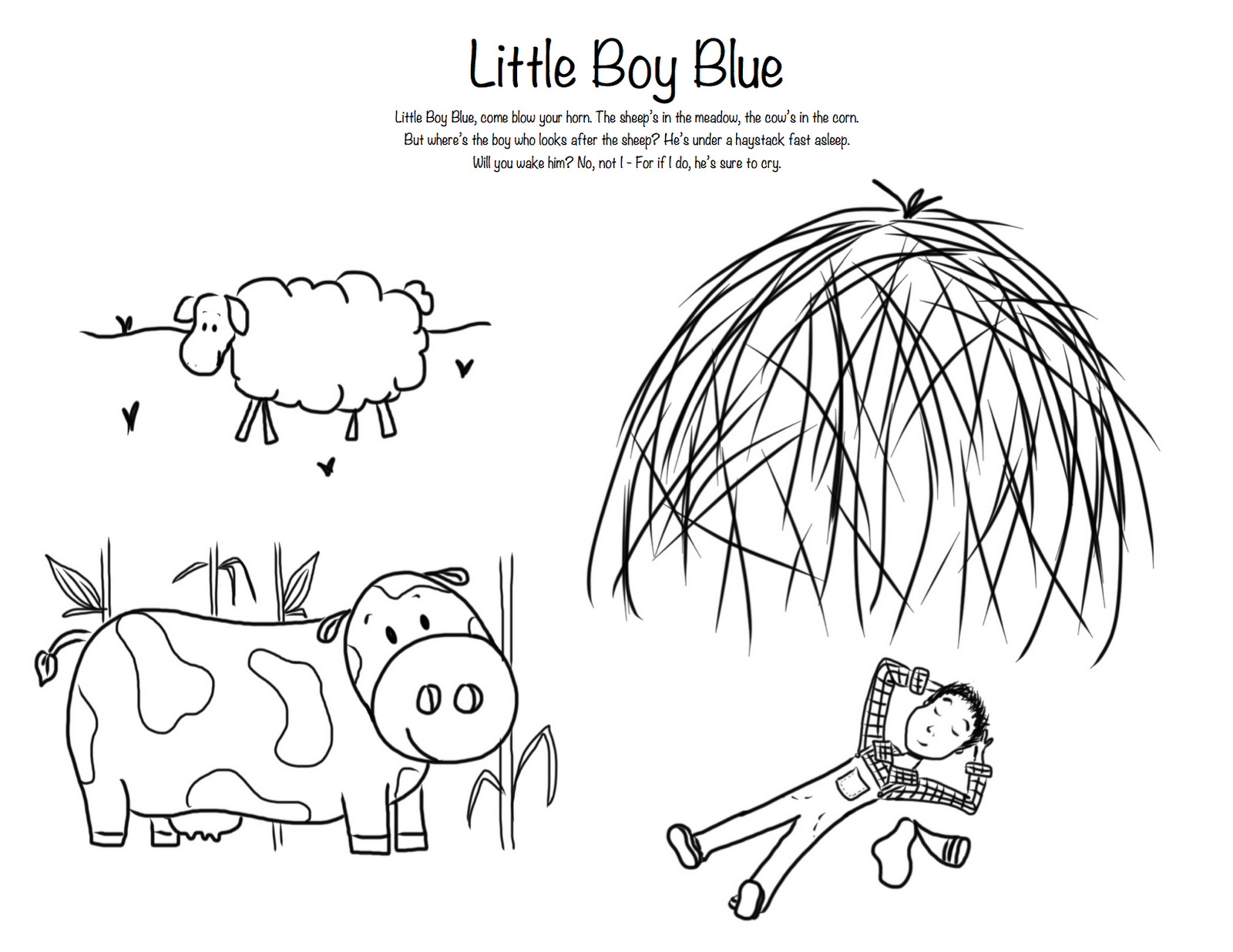 Little boy blue for Little boy blue coloring page