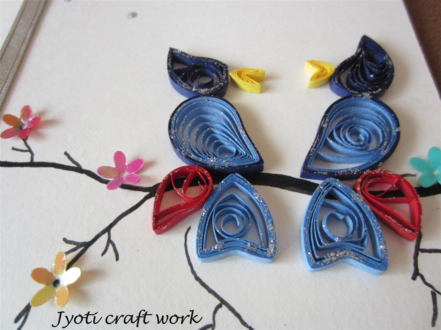 my craft work quilling birdies