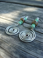 Twisted Metal Swirl Earrings by hotGlued