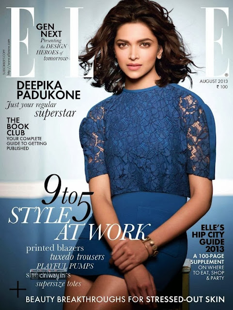 Deepika Padukone Photo Shoot for Elle August 2013