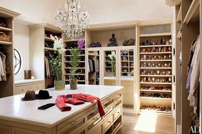 Phòng thay đồ này là của siêu mẫu Gisele Bundchen