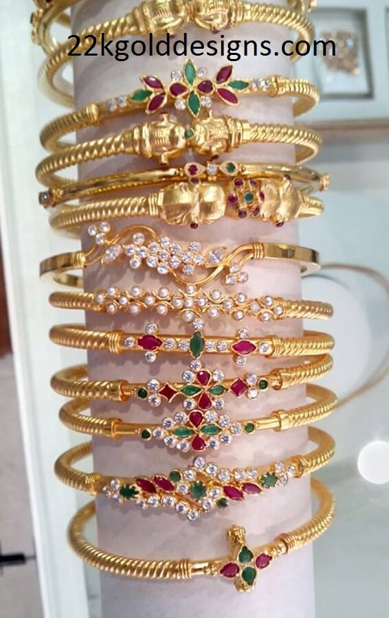 Gold Bangles Designs in 4 to 6 grams Weight - Latest Jewellery Designs