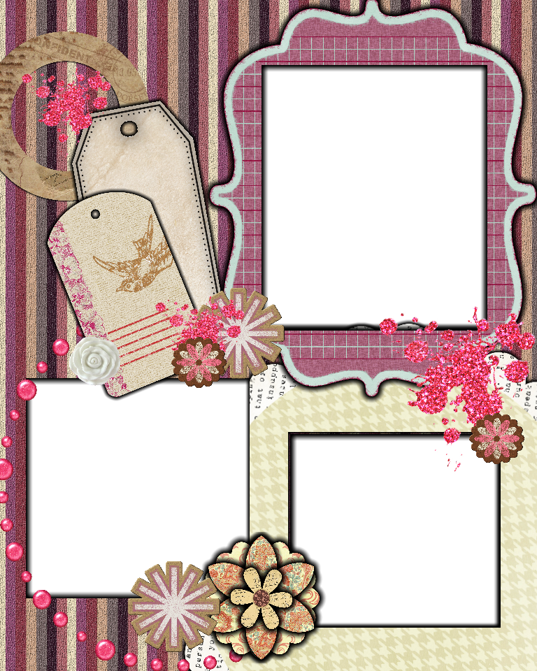 Sweetly Scrapped: {Free} Scrapbook Layout / Template