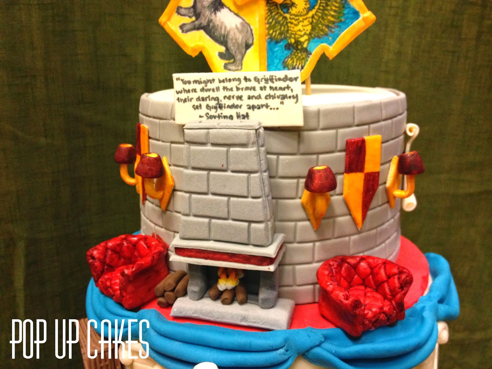 Pop up Cakes Hogwarts Houses Harry Potter Cake
