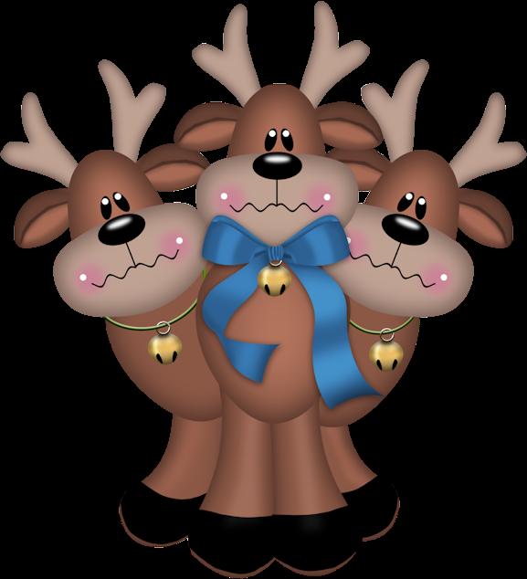 Renos ciervos navidad png for Dibujos de renos en navidad