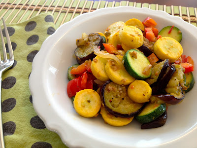 Summer Squash & Japanese Eggplant with Tapenade