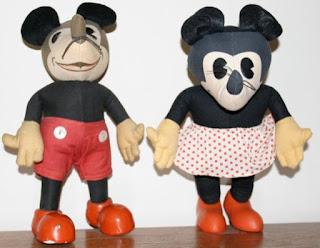 Gambar boneka Mickey dan Minnie Mouse berpasangan 5