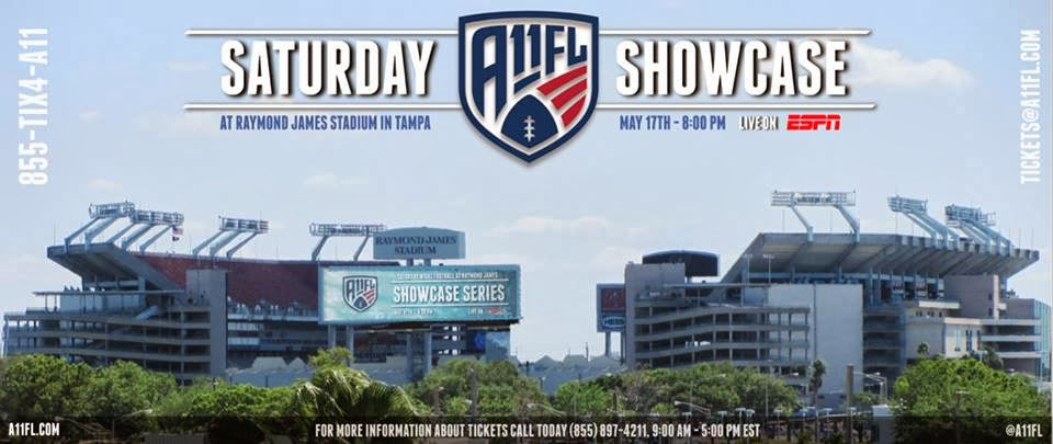 May 17th in Tampa & June 5th in Dallas (2014) Debut on National TV with Two Showcase Games on ESPN2