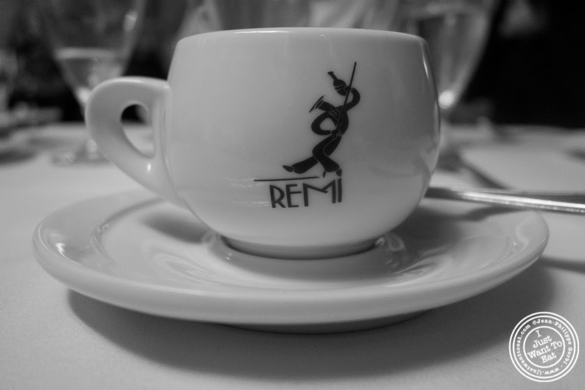 image of espresso at Remi, in Midtown West, NYC, New York
