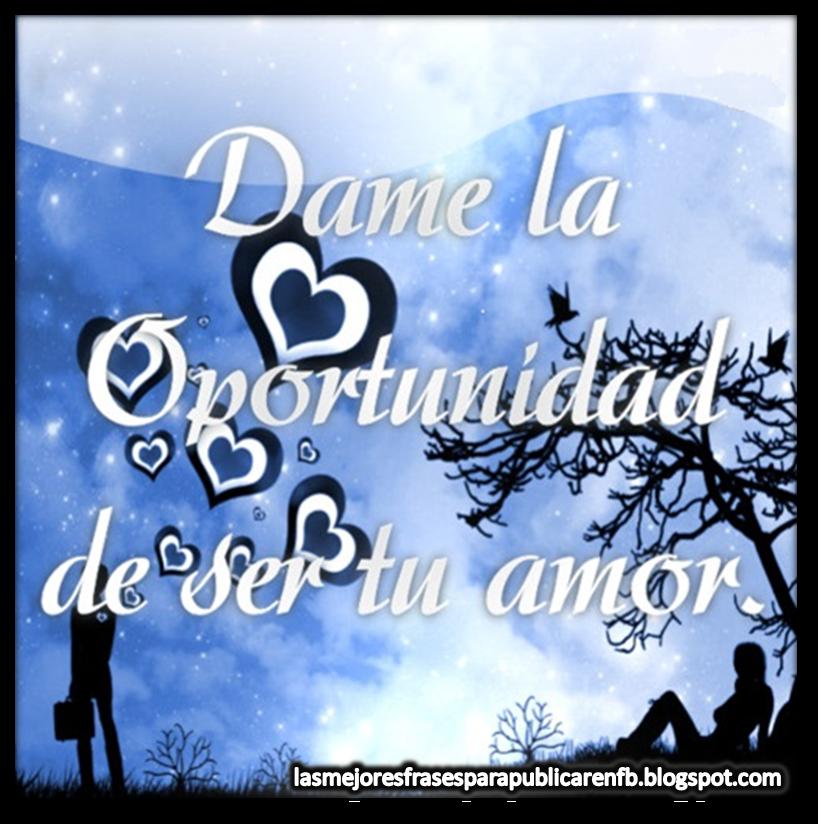 Frases Para Enamorar: Dame La Oportunidad De Ser Tu Amor