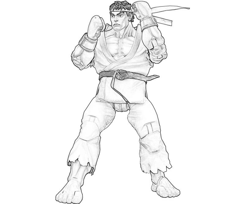 Ryu free colouring pages for Ryu coloring pages