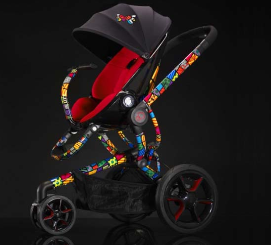 luxury baby strollers pram infant car seat by romero britto